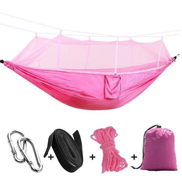 Impact Shop Pink 1-2 Person Portable Outdoor Camping Hammock with Mosquito Net By Impact Shop