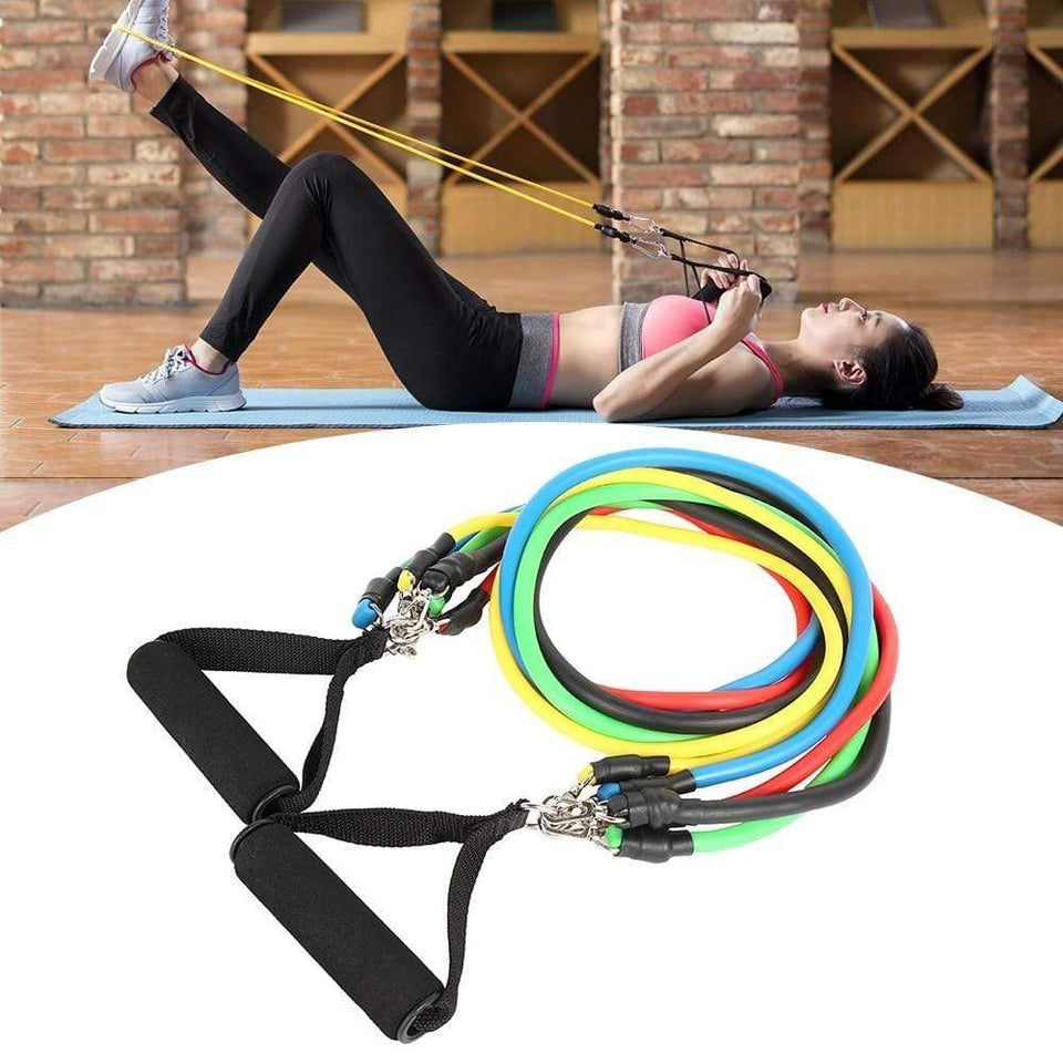 Impact Shop 200001973 11pcs 11pcs Pull Rope Fitness Exercises Resistance Bands Training Workout Yoga