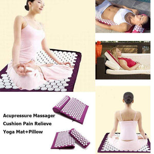 Impact Shop Purple mat Acupressure Mat Pillow Massager