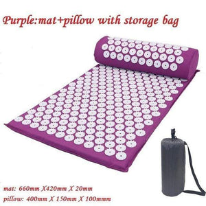 Impact Shop Purple with bag Acupressure Mat Pillow Massager
