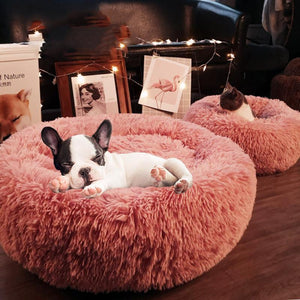 Mixed Treasure dog bed Soft Pink / 50cm Calming Bed For Dogs, Cats, With Pet Anti-Anxiety By Impact Shop