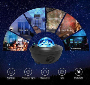 Lacuvion.co.uk projector Galaxy Star Lights Ocean Wave Projector Night Light  ( Built-in Music Speaker and Remote Controller )