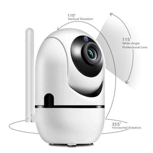 StoreSpree White Home Security Baby Monitor Camera- Fully Fledged Wireless Monitoring System With Night Vision