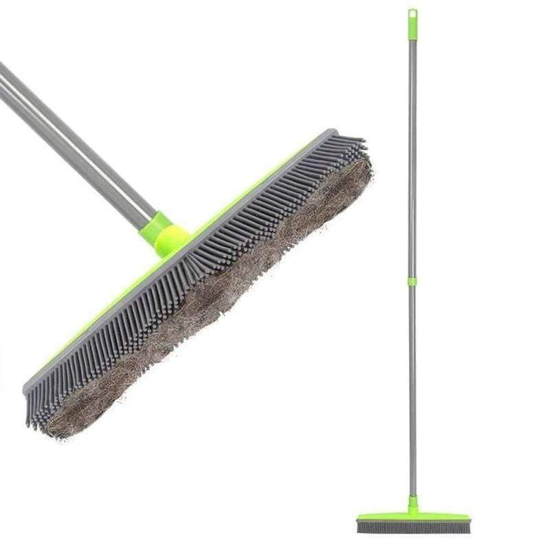 impact-wireless 151410 Miracle Broom 3-in-1 Bristles Sweeper Squeegee Scratch Free Bristle Broom for Pet Cat Dog Hair Carpet Hardwood Windows