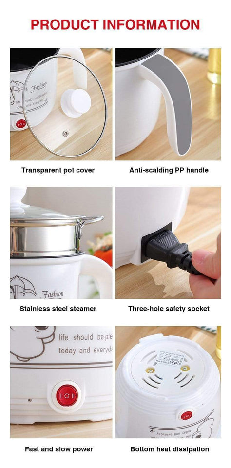 impact-wireless Multi functional Electric Cooking Pot Machine