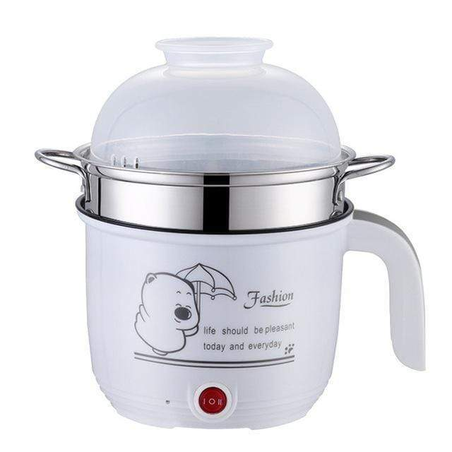 impact-wireless WHITE BOWL DOUBLE / EU Multi functional Electric Cooking Pot Machine