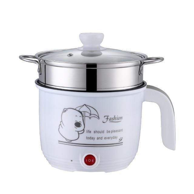 impact-wireless WHITE GLASS DOUBLE / EU Multi functional Electric Cooking Pot Machine