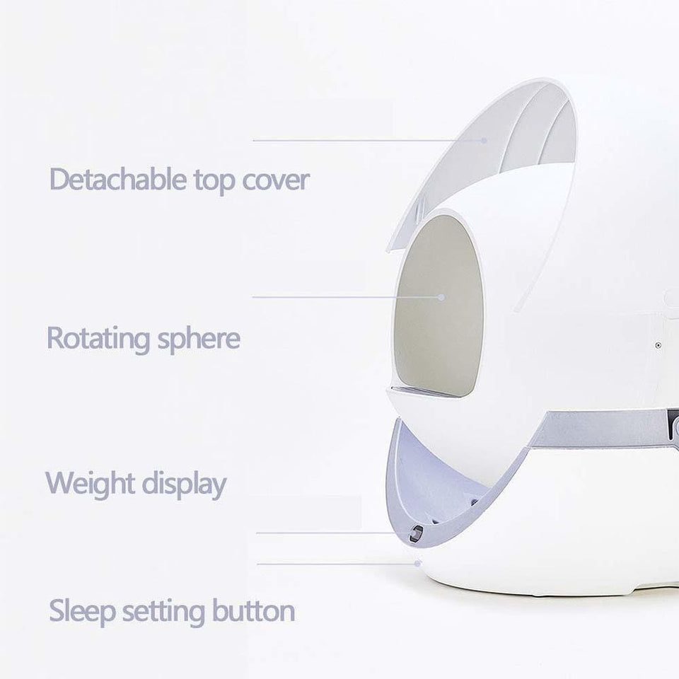 MydiscountDB automatic self cleaning litter box New Arrival 2020 Automatic Self Cleaning Smart Cat Litter Box Closed Detachable