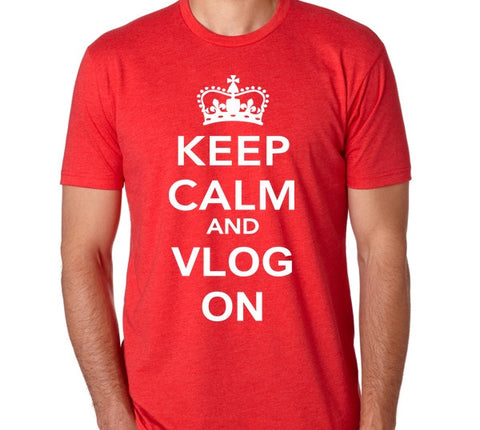 Keep Calm and Vlog On Tee