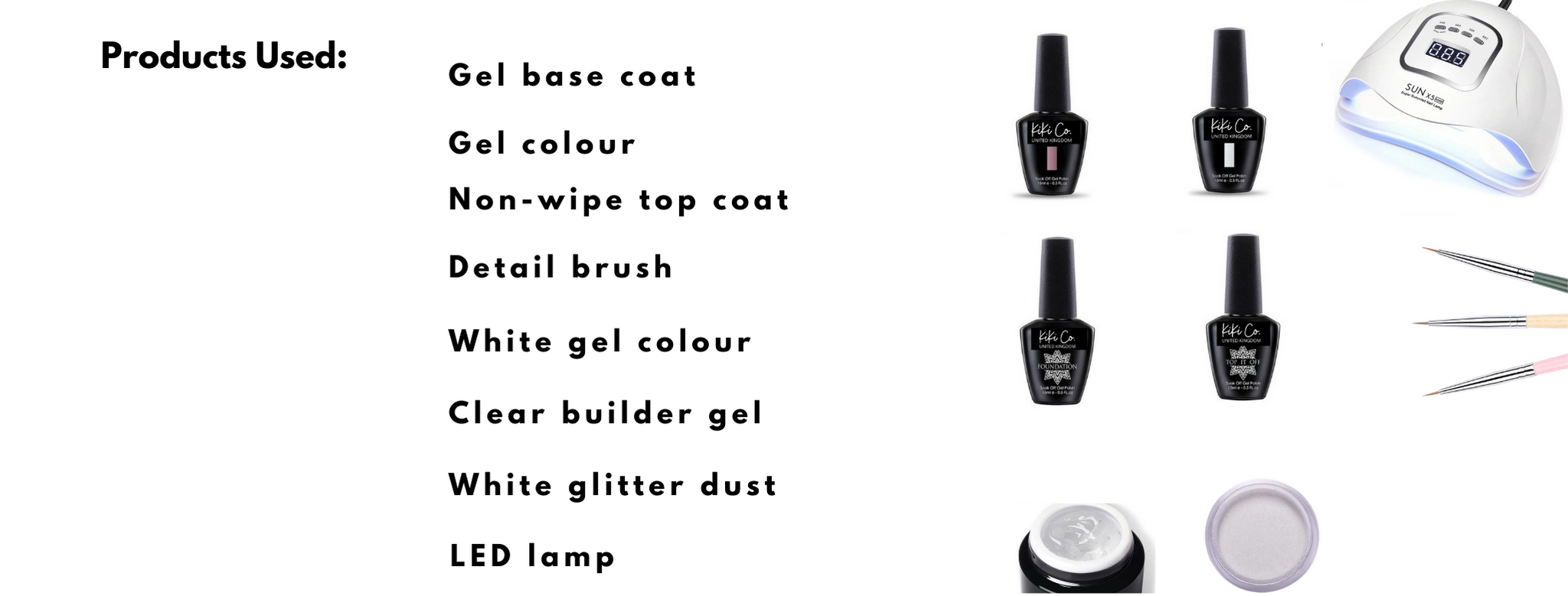 Products used for sweater nails design