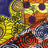 Collage of African cotton prints in bright colors