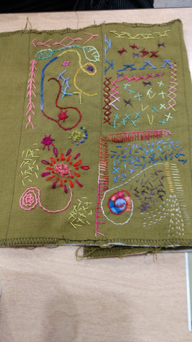 Modern Hand Stitch, Wed., 5/5, 5/12, 5/19, 5/26, and 6/2, 6-8pm
