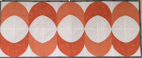 Pieced Curves Table Runner