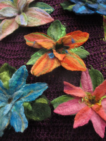 Wet Felted Flowers, Thurs. 4/22, 10:15am - 1:15pm