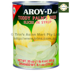 AroyD Toddy Palm's Seed Slices in Syrup 565G