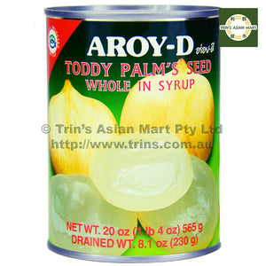 AroyD Toddy Palm's Seed Whole in Syrup 565G