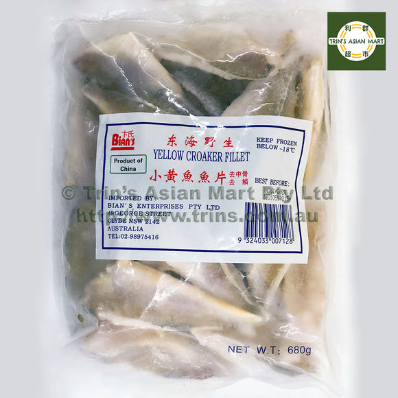 Bians Yellow Croaker Fillets 680G