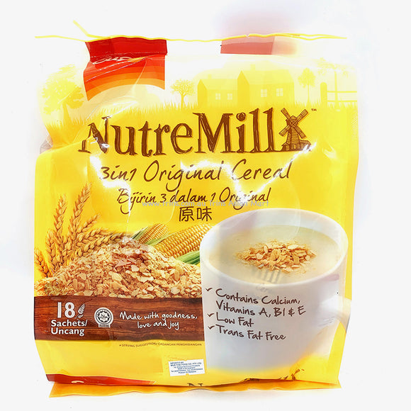 Nutre Mill Malaysian Cereal 18 Sachets 540g