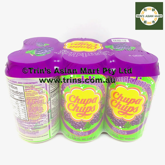 CHUPA CHUPS Grape 345mL x 6 Cans