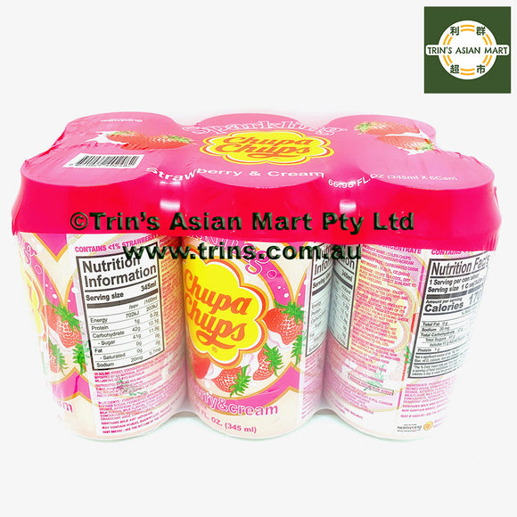 CHUPA CHUPS STRAWBERRY 345ML x 6 Cans