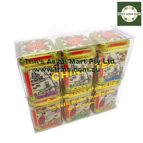 Assorted Chinese Loose leave Tea 6 Tins 100g