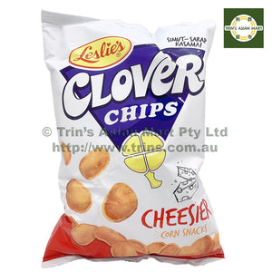 LESLIES CLOVER CHIPS CHEESIER 155G