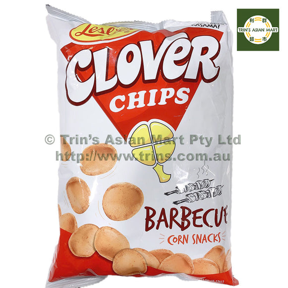 LESLIES CLOVER CHIPS BBQ 145G