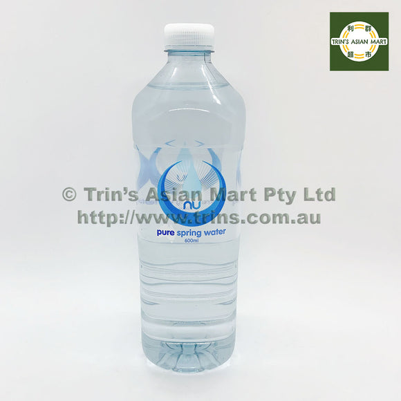 NU PURE SPRING WATER 600ML