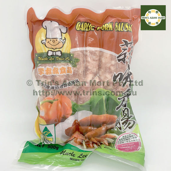 UNCLE LEE GARLIC PORK SAUSAGES 500G