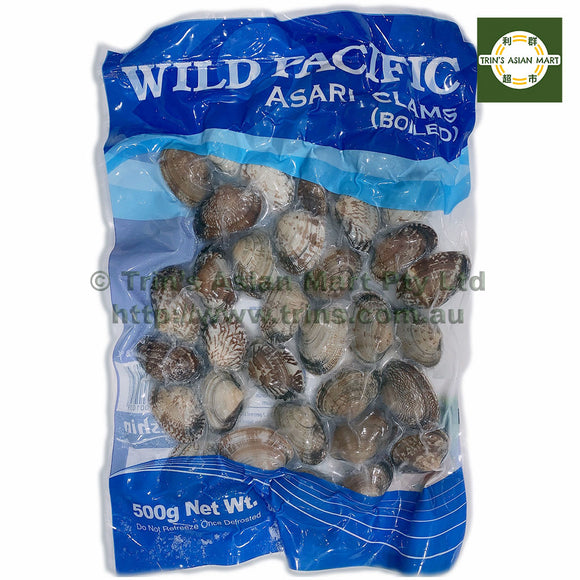 WILD PACIFIC BOILED CLAMS 500G