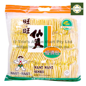 WantWant Senbei Rice Crackers 500G