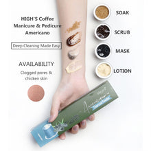 Load image into Gallery viewer, HIGH'S Coffee Manicure & Pedicure Americano Deep Cleaning Made Easy
