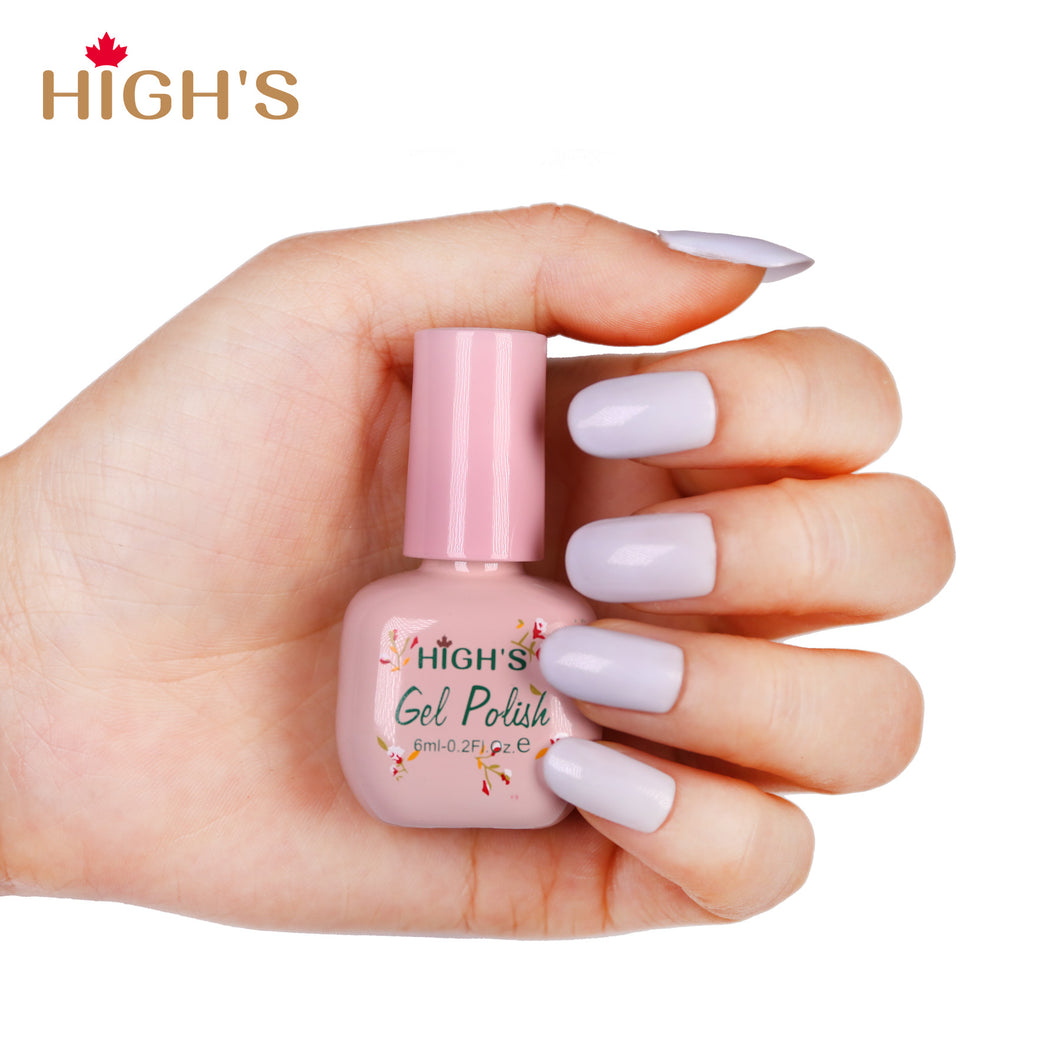 HIGH'S Peel Off Gel Nail Polish, Veil of mist