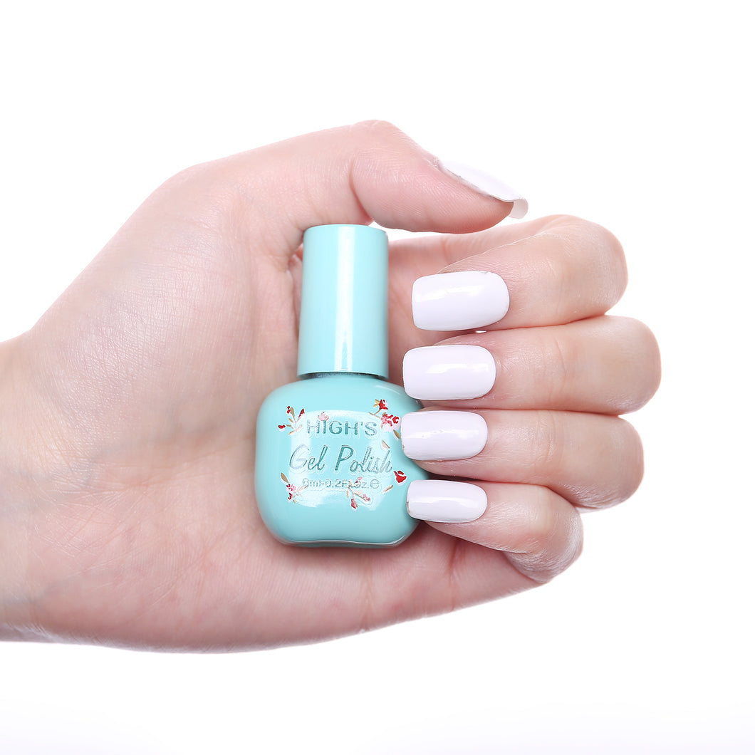 HIGH'S One Step Gel Nail Polish, Lily White