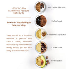 Load image into Gallery viewer, HIGH'S Coffee Manicure & Pedicure Caffe Latte Powerful Nourishing & Moisturizing