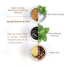 Load image into Gallery viewer, HIGH'S Coffee Manicure & Pedicure Espresso Speedy Refresh & Cool