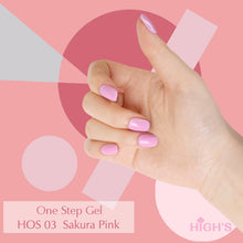 Load image into Gallery viewer, HIGH'S One Step Gel Nail Polish, Sakura Pink