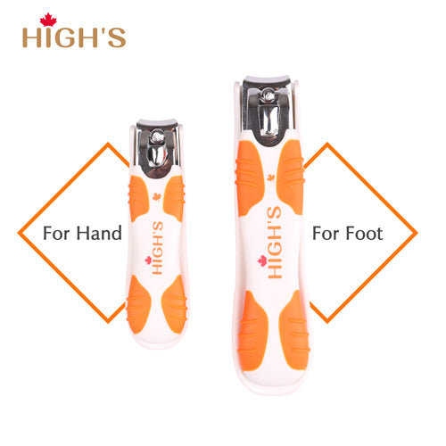 HIGH'S Deluxe Stainless Steel Nail Clipper Set