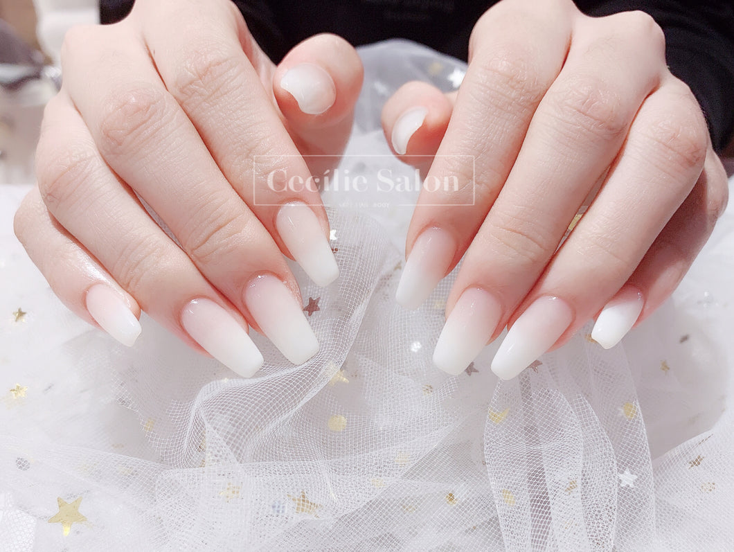 Japanese gel with nail extension