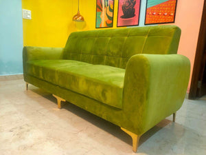 Elegant Sofa with Golden Legs