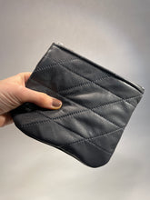 Load image into Gallery viewer, *NEW* Medium Quilted Recycled Leather Zipper Pouch