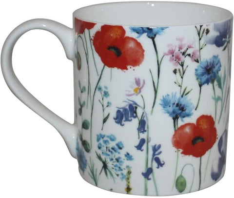 Rubyspoon Oversized Fine Bone China Wild Flowers' Balmoral Mug, 425 ml