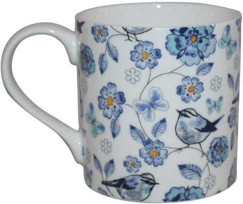 Rubyspoon Oversized Fine Bone China 'Bluebird' Balmoral Mug