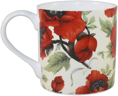 Rubyspoon Oversized Fine Bone China 'Poppy' Balmoral Mug, 425 ml