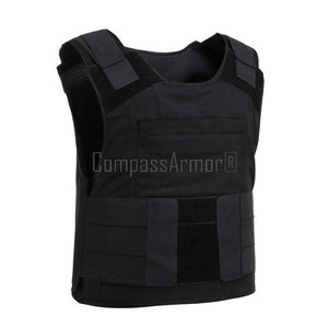 LIGHT-WEIGHT CONCEALED BULLETPROOF VEST WITH DUAL POUCHES BPV-PC1