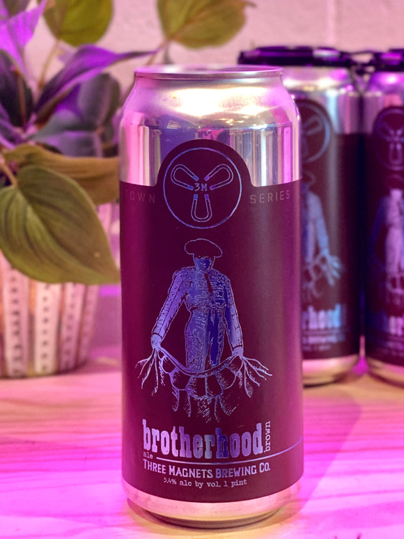 3 Magnets 'Brotherhood' Brown Ale, Olympia, WA [16oz can]