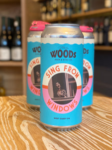 "Woods Beer & Wine Co. ""Sing From the Windows"" West Coast IPA, San Francisco, CA (16oz Can)"