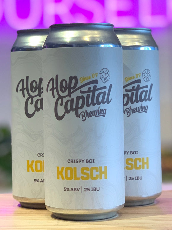 Hop Capital Brewing 'Crispy Boi' Kolsch, Yakima, WA [16oz Can]