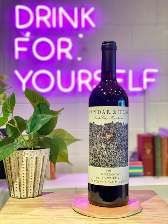 Sandar & Hem 2018 Bordeaux Blend, Santa Cruz Mountains, California, USA