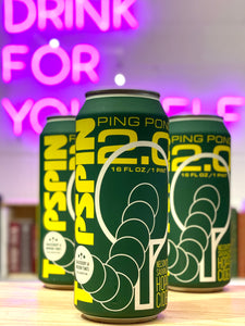 Shacksbury 'Topspin v2.0 Dry-Hopped Ping Pong Cider' Modern Times Collab, Vermont [16oz Can]